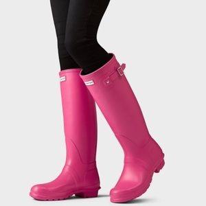 Hunter Hot Pink Tall Rain Boots - NWT